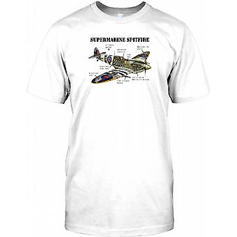 Supermarine Spitfire Citaway - RAF WW2 legende børn T Shirt