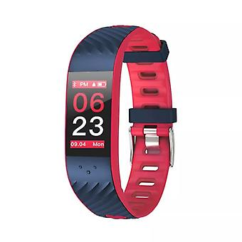 P4 activity bracelet with blood pressure and heart rate monitor-red