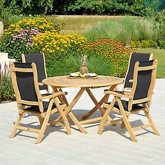 Alexander Rose Roble 4 Seat Round Dining Set