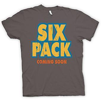 Camiseta para hombre - seis pack Coming Soon - gracioso