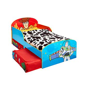 Toy Story 4 Toddler Bed with Storage Plus Foam Mattress