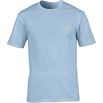 Königliches Regiment der Füsiliers Text - lizenzierte britische Armee bestickt Premium T-Shirt