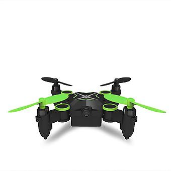Folding four axis aerial photography mini drone aircraft toy - standard (green)