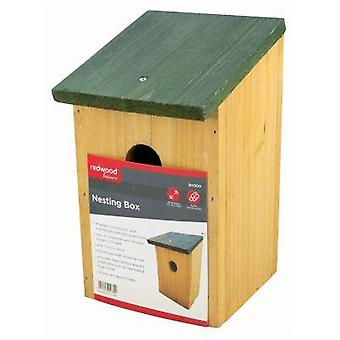 Wooden Garden Bird Nest Box Small Birds Bluetit Robin Nesting House