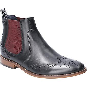 Base London Mens Gaffer Waxy Pull On Leather Chelsea Boots