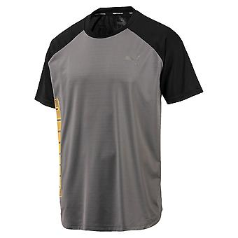 Puma Collective Loud Mens Fitness Training T-Shirt Tee Grey/Black