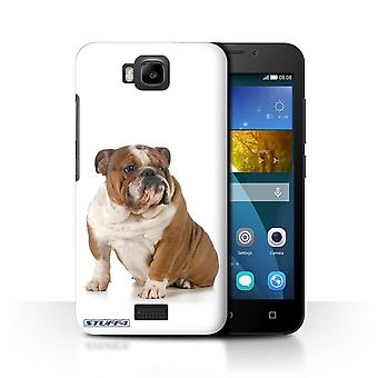 STUFF4 Case/Cover for Huawei Honor Bee/Y5c/Bulldog/Dog Breeds