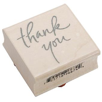 Inkadinkado Wood Mounted Rubber Stamp L Thank You Stampl 96674