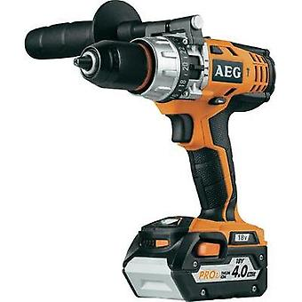 AEG Powertools BS18C Cordless drill 18 V 4 Ah Li-ion incl. spare battery, incl. case