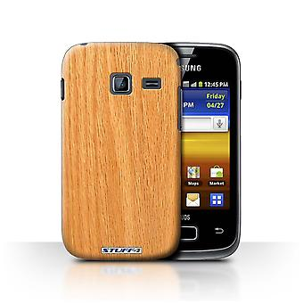 STUFF4 Case/Cover for Samsung Galaxy Y Duos/S6102/Pine/Wood Grain Pattern