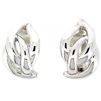Clip On Earrings Store Silver Plated Entwined Fashion Semi Hoop Clip On Earrings