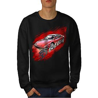 Speed Racing Auto Car Men Black Sweatshirt | Wellcoda