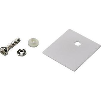 Semiconductor mounting set (L x W) 25 mm x 22 mm Suitable for TO 218 SCI 1 Set