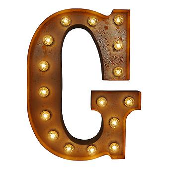 Large Vintage Letter Lights - G
