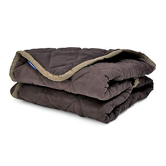 Sleepy Paws Quilted Sofa Throw Brown 250x145cm