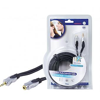 HQ Stereo Audio extension cable 3.5 mm, 3.5 mm male-female Dark grey
