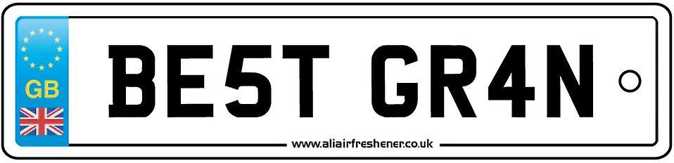Best Gran Numberplate Car Air Freshener