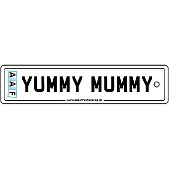 AAF - Yummy Mummy License Plate Car Air Freshener