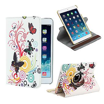 360-Grad-Design Hülle für Apple iPad Mini 4. Gen - Farbe Schmetterling