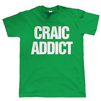Craic Süchtigen, Mens lustig irischen Tshirt
