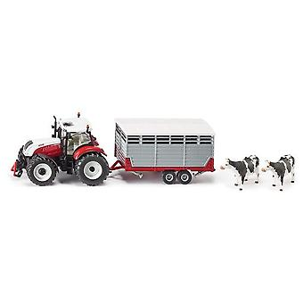Siku Steyr With Livestock Trailer
