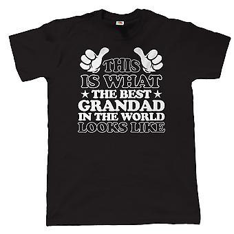 Was die besten Opa In die Welt aussieht, Herren-T-Shirt
