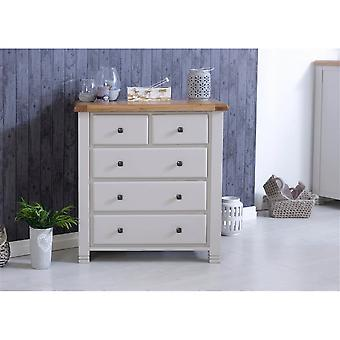 Birlea Woodstock 3+2 Chest Grey & Oak