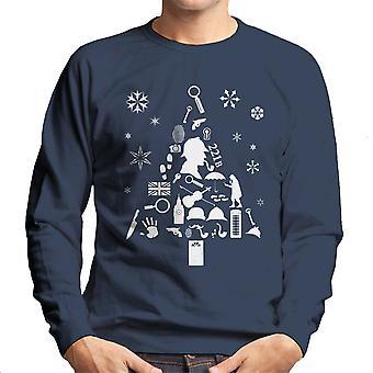 Juletræ Sherlock Holmes mænds Sweatshirt