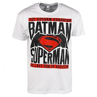 Batman Mens Batman V Superman T-Shirt White