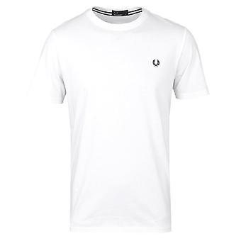 Fred Perry Classic Weiss Rundhals T-Shirt