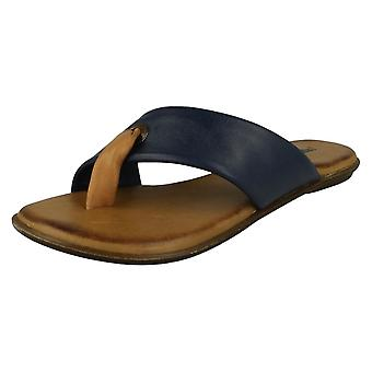 Ladies Leather Collection Toe Post Summer Sandals F0929