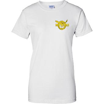 Navy Seal Gold Insignia - US Naval Special Forces - Ladies Chest Design T-Shirt
