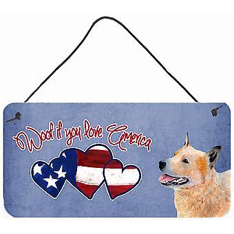 Wuff, wenn Sie Amerika Australian Cattle Dog Wand oder Tür hängen Drucke lieben