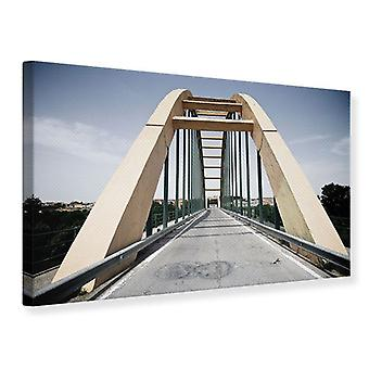 Imposante Hängebrücke-Leinwand