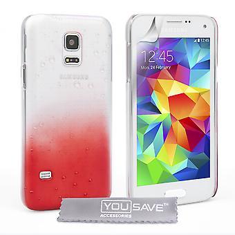 Samsung Galaxy S5 gota Mini estuche duro - rojo claro