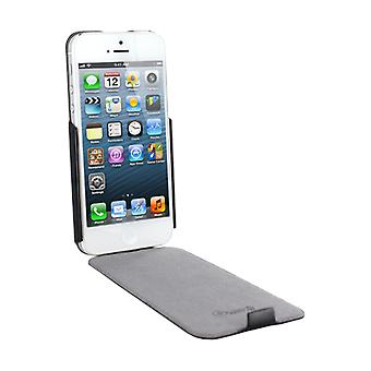 Muvit iFlip cover case for Apple iPhone 5 / 5S - grey