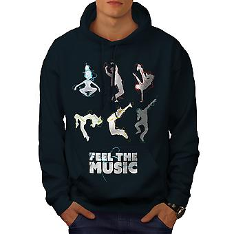 Feel Dj Song Dance Music Men NavyHoodie | Wellcoda