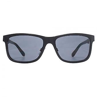 French Connection Retro Metal Sunglasses In Matte Black