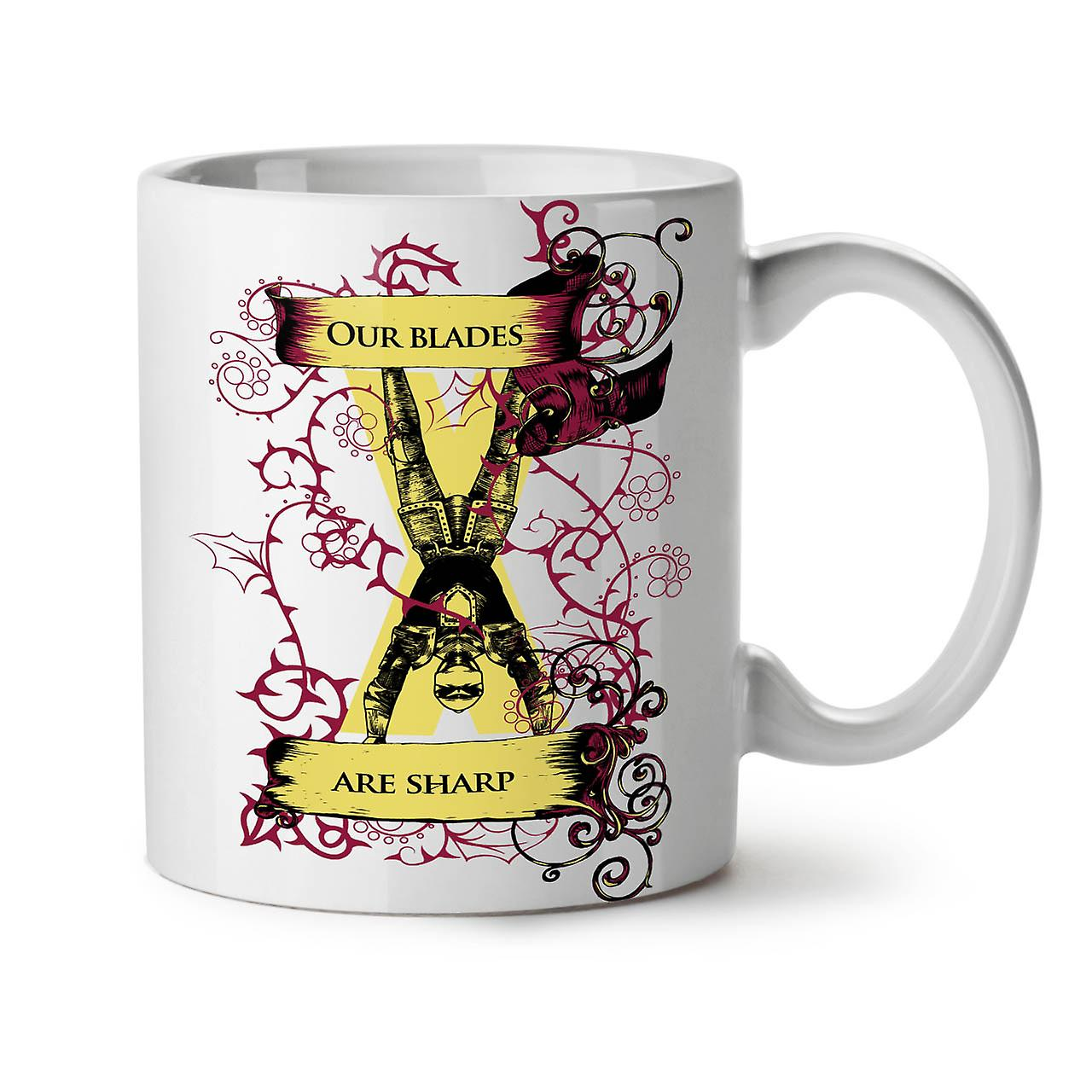 Blades Are Sharp Slogan NEW White Tea Coffee Ceramic Mug 11 oz | Wellcoda