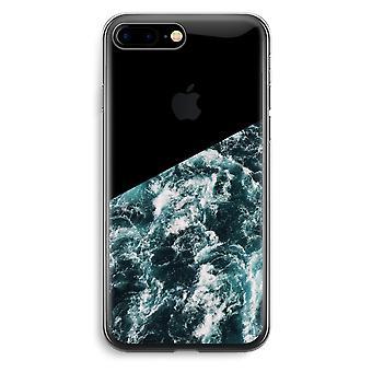 iPhone 7 Plus transparant Case (Soft) - Ocean Wave