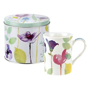 Portmeirion Water Garden Mug & Tin Set
