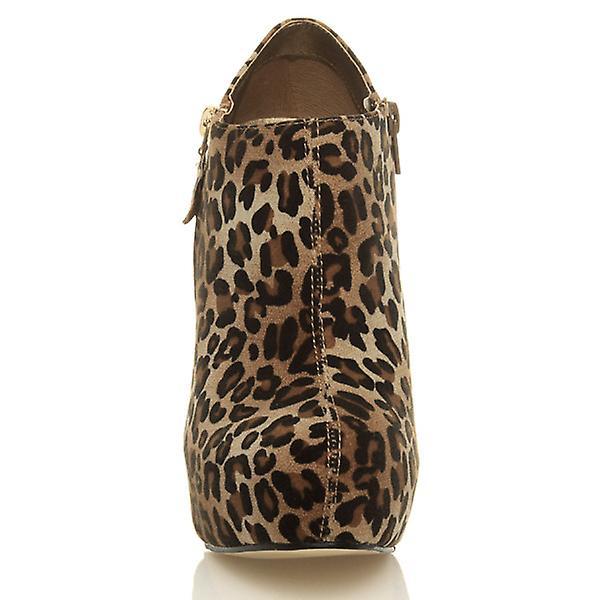 Ajvani womens platform high heel party fashion zip ankle shoe boots booties