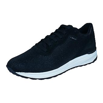 Womens Geox Trainers D Airell B Casual Shoes - Black