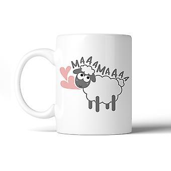 Taza de café cerámica de 11 Oz MaaaMaaa ovejas