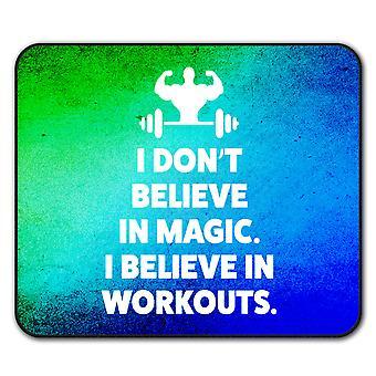 Believe Gym Workout  Non-Slip Mouse Mat Pad 24cm x 20cm   Wellcoda