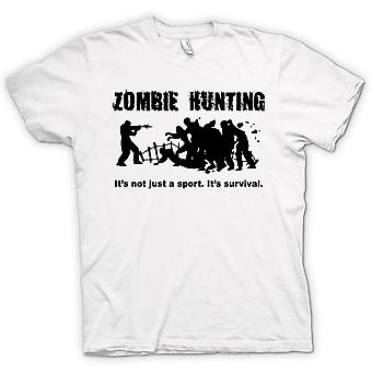 Mens T-shirt - Zombie Hunting Sport - Comedy Horror