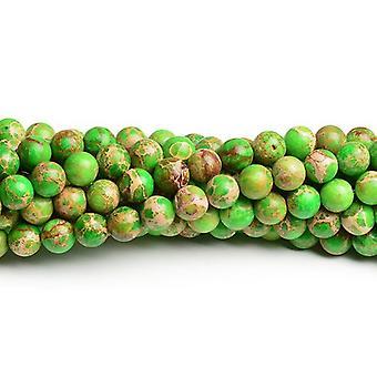 Jasper Strand 90 + wapno wrażenie zielony 4mm barwiona zwykły koraliki okrągłe CB41823-1