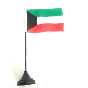 Kuwait Table Flag with Stick & Base
