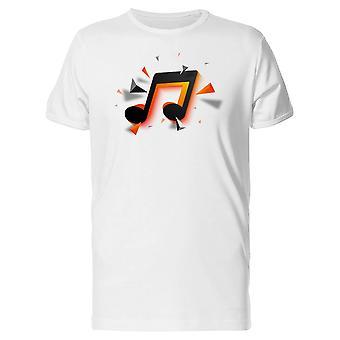 Orange & Black Music Note Tee Men's -Image by Shutterstock