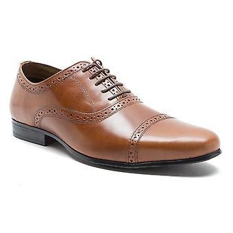 Red Tape Fenny Tan Leather Lace-Up Formal Dress Shoes